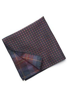 Silk All-over Pine Pocket Square