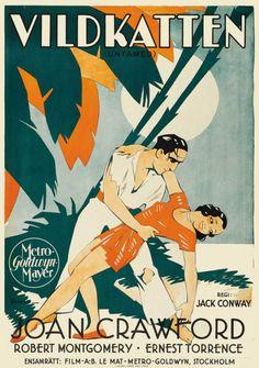 Untamed (1929). Swedish poster. http://ift.tt/2soWWAj