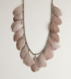 feather statement necklace