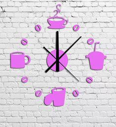 Relógio De Parede Grande, Cozinha, Sala E Quarto Em 3d Pink - R$ 49,90 em Mercado Livre