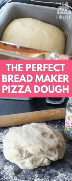 A delicious and fail-safe recipe for perfect breadmaker pizza dough every time. How to make the perfect bread maker pizza dough A delicious and fail-safe recipe for perfect breadmaker pizza dough every time. How to make the perfect bread maker pizza dough Bread Maker Recipes, Pizza Recipes, Cooking Recipes, Pizza Dough Recipe For Bread Maker, Breadmaker Bread Recipes, Perfect Pizza Dough Recipe, Pizza Maker, Cooking Games, Bagel Pizza