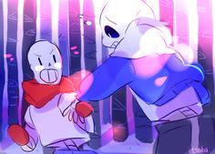 sans and papyrus - skelebros by ttoba's Art Blog