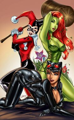 Sexy Batman Ladies... Catwoman, Harley Quinn & Poison Ivy