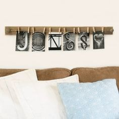 A new way to 'Hang' out with your family... Are you a Vintage Black, Vintage White or a Natural kind of person? Pick your favorite Keepsake Wall Display here.