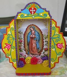 Our Lady Of Guadalupe Mexican Folk Art Retablo