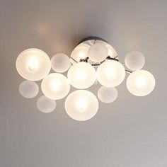 Possini Euro Lilypad 30 Quot Wide Etched Glass Ceiling Light