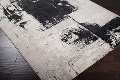 Black and white area rug   Nuage NUA-1004