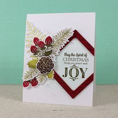 Spirit Of Christmas Card by Lizzie Jones - PTI Holiday Greens + A Thrill of Hope