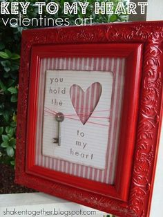 You Hold the Key to my Heart Valentine Art