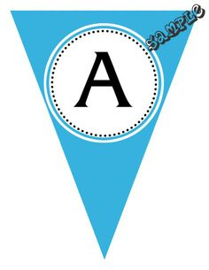 "DIY Birthday or Baby Shower Party Pendant Banner. ANY COLOR SCHEME. Design Online Download & PRINT IMMEDIATELY. Each panel measures: 8.5"" x 11"" (19.75 CM x 25.85 CM) Hot Glue or Tape Pendants to your string. Or punch holes and tie together with matching ribbon. Print at home or take to a place like Kinko's, Office Max, Copy Max, Staples or other stores that offer printing services."