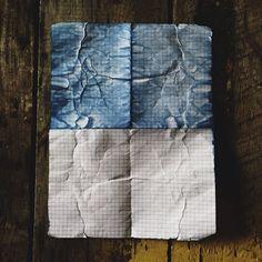 indigo accident {paper left in back pocket of raw denim jeans} by imogenewillie