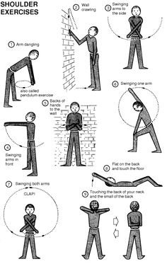 stretches to alleviate sub-luxated shoulder injury