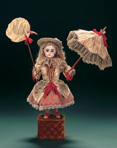 "The Beautiful French Musical Automaton ""Bebe Ombrelle"" by Leopold Lambert"