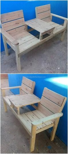 wooden pallets patio bench #outdoordiypallet