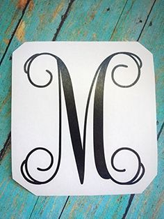 Custom Single Initial Monogram Vinyl Decal for Car, Yeti Cup, Water Bottle, Laptop, Home, Nursery and Wal- Glitter Options Available -- Details can be found by clicking on the image.