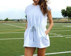 DIY track dress from tshirt