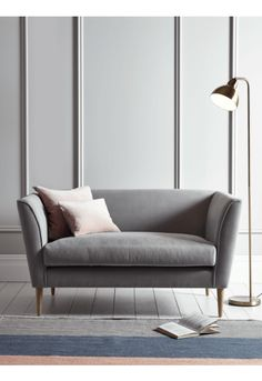 Timsbury Cotton Weave Sofa - Grey - Upholstery - Furniture