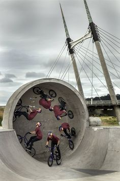 Napo in the pipe: Anthony Napolitan in the Barry Curtis Park in Auckland, New Zealand: http://win.gs/1qmZl7X Image: Graeme Murray #pictureperfect #bike #bmx