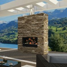 This one is a combo fireplace and grill - Escea Outdoor Wood Burning Fireplace Insert/Grill with Optional Fascia - Fireplaces & Chimineas at Hayneedle Cozy Fireplace, Freestanding Fireplace, Outdoor Gas Fireplace, Farmhouse Fireplace, Shiplap Fireplace, Outdoor Wood, Fireplace, Wood Burning Fireplace Inserts, Diy Fireplace