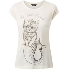 Cream The Little Purrmaid T-Shirt