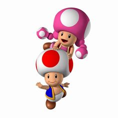 Toad and Toadette- I hate these two little twits. (they make good punching bags, though.) :p