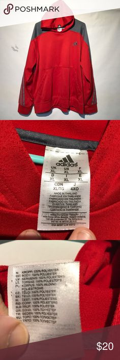 Preowned Adidas Basketball hoodie Preowned Adidas Basketball hoodie. Size XL climawarm Basketball hoodie. Made in Thailand of 100% polyester. Smoke-free home. Submit all offers. B5 adidas Shirts Sweatshirts & Hoodies