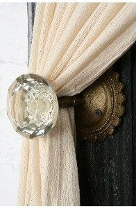 Door Knob Curtain tieback