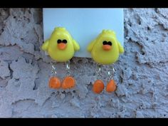 Aretes de Pollito Porcelana Fria - Arcilla Polimerica / Chick Earrings Polymer Clay - Cold Porcelain - YouTube