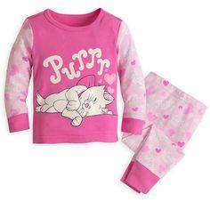 Disney Store Marie Aristocats Baby Girl PJ Pals Sleep Pajamas Set 6-9Mo NWT    48566b0dd