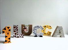 Letras 3D Safari | Favo de Mel | Elo7 Wild One Birthday Party, Safari Birthday Party, Animal Birthday, Baby Birthday, 1st Birthday Parties, Birthday Ideas, Safari Theme Party, Jungle Party, Jungle Theme
