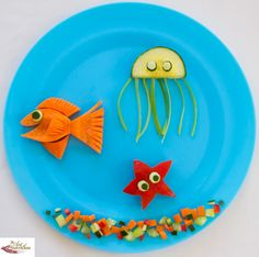 Fun food for picky kids underwater salad