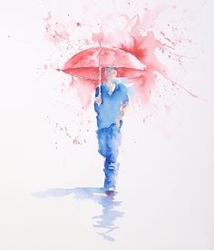 We've just added a new beginner Brusho® class - 'Walking in the Rain' by Joanne Boon Thomas.  Although this class obviously uses Brusho®, you can easily follow along and replicate it in watercolour.