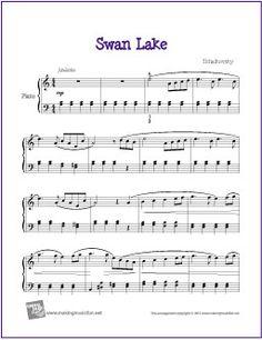 Swan Lake (Tchaikovsky) | Free Sheet Music for Intermediate Piano