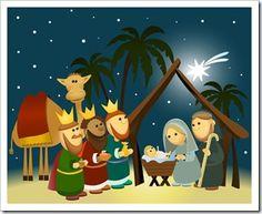 christmas nativity: Cartoon nativity scene with holy family Christmas Nativity Scene, Christmas Art, Nativity Scenes, Jesus Cartoon, Nativity Silhouette, Family Vector, Summer Banner, Christmas Planning, Christmas Drawing