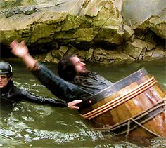 Backstroking in the barrel by the King, Richard Armitage. well that is just adorable