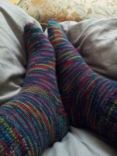 A pair of knitted socks