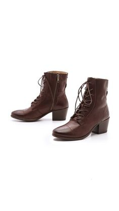 Frye Courtney Lace Up Booties