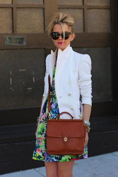 Love that white blazer.