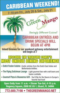 Carribean Weekend at the Green Mango