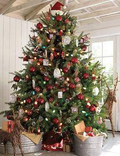 32 adornos y tendencias de arbol de Navidad para decorar reciclando - Mujeres Femeninas