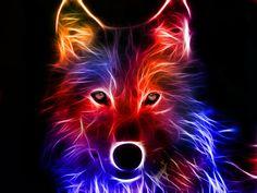 Magnifique loup en 3D ..