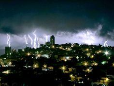 Stormy night in Tegucigalpa, Honduras