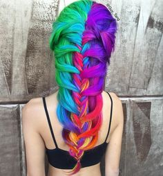 Rainbow Candy by Guy Tang colorful rainbow hair