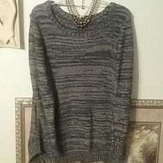 Long sleeve sweater. Style and Co black sweater with gold shimmer. Style & Co Sweaters Crew & Scoop Necks