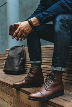 #Thursdayboots #mensboots #rawdenim #leatherworks #menswear #meninspiration #mensfashion