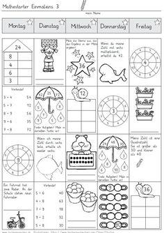 Mathestarter 1x1 - Woche 3 und 4 (Zaubereinmaleins - DesignBlog)