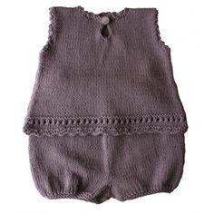 Modèle à tricoter Kidstricots Ensemble bébé KEIKI 3/6/12/18 mois