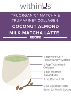 Looking for a delicious Matcha Latte recipe? ⠀ Jillia Harris' Coconut Almond Milk Matcha Latte is a must try!  Click link for full recipe. Almond Milk Latte, Coconut Almond Milk, Matcha Latte Recipe, Jillian Harris, Gut Health, Collagen, Giveaways, March, Cook