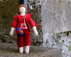 Needlefelted Penny Doll  Trouper Series 002  Eco by alyparrott, $60.00
