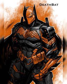 Batman Armor, Batman Suit, Joker Batman, Deathstroke Cosplay, Dc Deathstroke, Drawing Superheroes, Japanese Superheroes, Joker Dc Comics, Arte Dc Comics